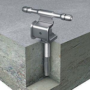 Seilführung 0° auf Beton mit Bolzenanker