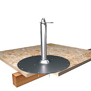 EAP flach 42mm Platte auf OSB