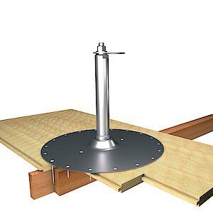 EAP flach 42mm Platte auf Holzschalung