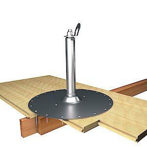 EAP gebogen 42mm Platte auf Holzschalung