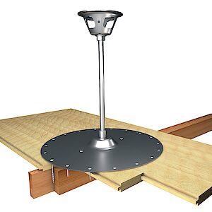 EAP Quattro 16mm Platte auf Holzschalung