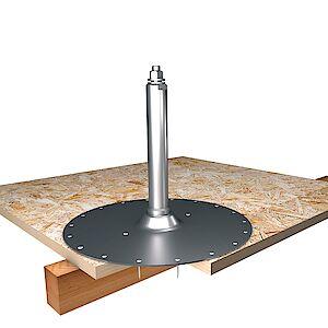 Systemstütze 42mm mit Platte auf OSB