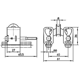 Doppel-Fahrdrahthängerklemme