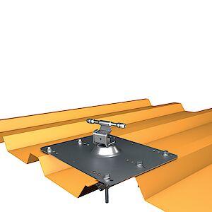 Seilführung auf Grundplatte Trapezblech - Stahl