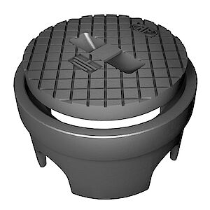Scatola di terra per manicotto di misura
