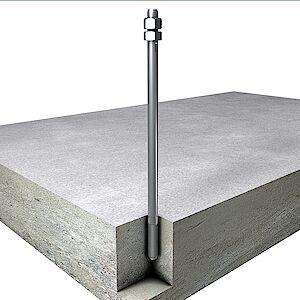 Systemstütze 16mm auf Beton geklebt