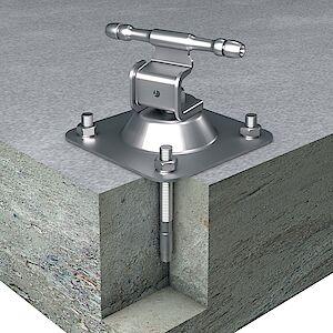Seilführung 0° auf Grundplatte Beton