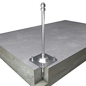 Systemstütze 16mm auf Grundplatte Beton