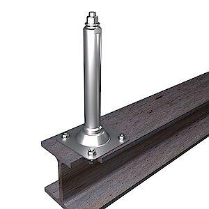 Systemstütze 42mm mit Platte auf Stahl