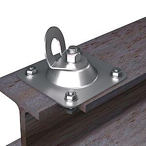 EAP gebogen Platte auf Stahl