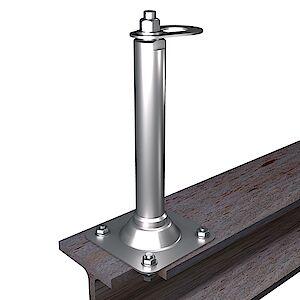 EAP flach 42mm Platte auf Stahl