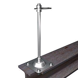EAP flach 16mm Platte auf Stahl