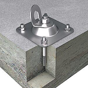 EAP gebogen Platte auf Beton