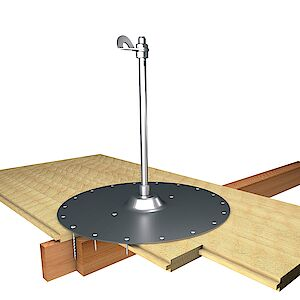 EAP Standard, Stütze 16mm, auf Grundplatte Holz - Holzschalungen