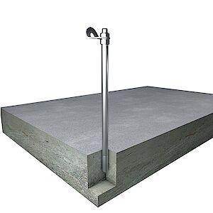 EAP Standard, Stütze 20mm, auf Beton geklebt