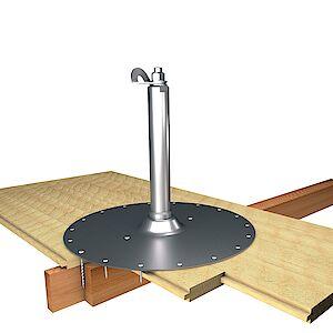 EAP Standard, Sützte 42mm, auf Grundplatte Holz - Holzschalungen