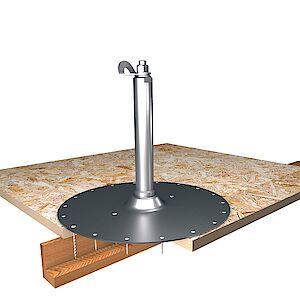 EAP Standard, Sützte 42mm, auf Grundplatte Holz - OSB-Platten