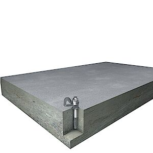EAP Standard mit Bolzenanker auf Beton