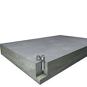 EAP Standard mit Klebanker auf Beton