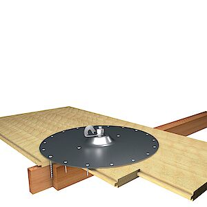 EAP Standard Platte auf Holzschalung
