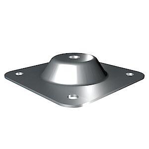 Grundplatte Beton/Stahl