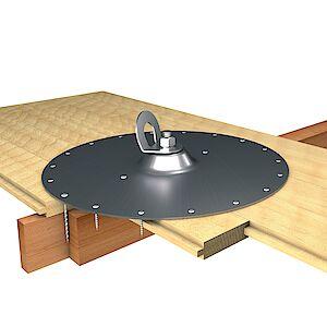 EAP gebogen Platte auf Holzschalung