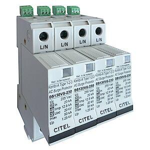 Scaricatore di corrente di fulmini DS 130 VGS/AF - Tipo 1+2+3