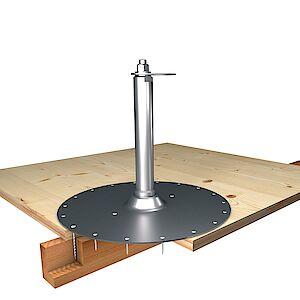 EAP flach 42mm Platte auf Schichtplatte