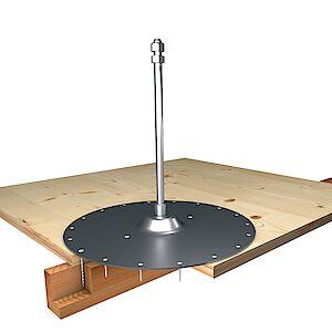 Systemstütze 16mm mit Platte auf Schichtplatte