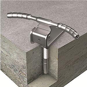 Seilführung 90° auf Beton mit Bolzenanker