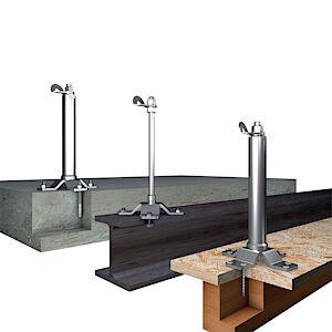 Systemstützen Multi: Holz, Beton und Stahl