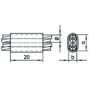 Manicotto per compressione del filo