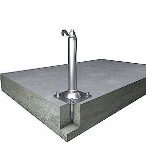 Set Einzelanschlagpunkte auf Grundplatte Beton