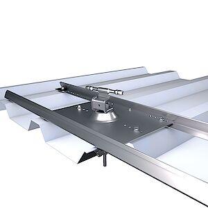 Systemstütze 2D Seilführung mit Platte auf Trapezblech ALU