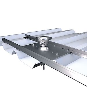 Systemstütze Quattro mit Platte auf Trapezblech ALU