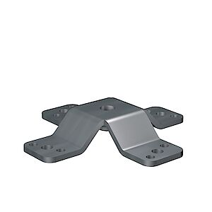 Grundplatte Beton/Holz/Stahl