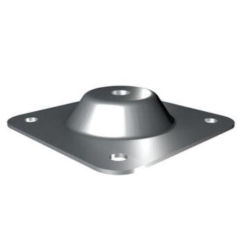 Grundplatte für Beton/Stahl 150 x 150mm